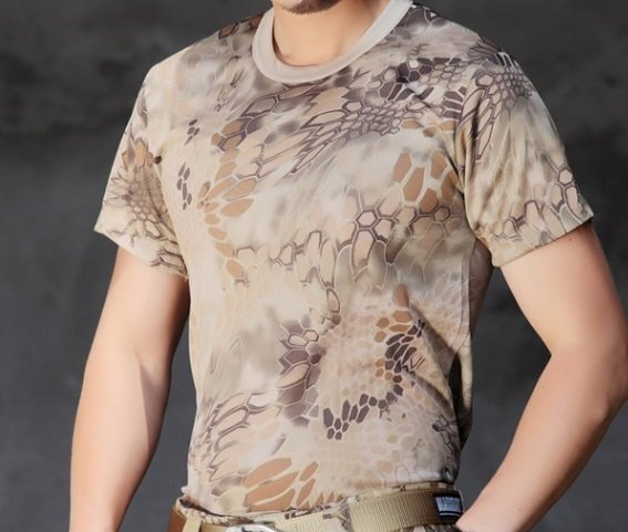 【翔準軍品AOG】荒地 沙漠 山地蟒 速乾 T恤 短衣 響尾蛇 迷彩服 郊遊 偽裝 戶外 休閒 夏季 潮牌 圓領 百搭