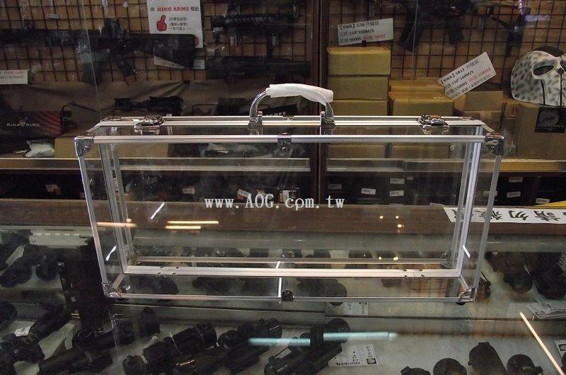 【翔準軍品AOG】(瑕疵出售)透明 壓克力 盒 45公分寬20 -托運箱 鋁箱 槍箱 化妝盒 釣竿盒 收納盒 釣蝦